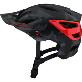 Troy Lee Designs A3 MIPS Helmet, camo grey/red